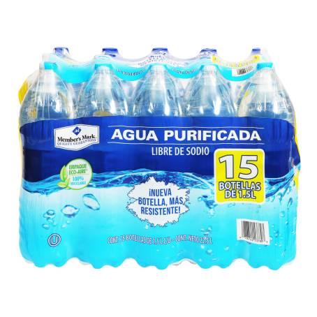 Sam's Club: 15 botellas de agua de litro y medio por $55, es decir, cada botella a $3.66