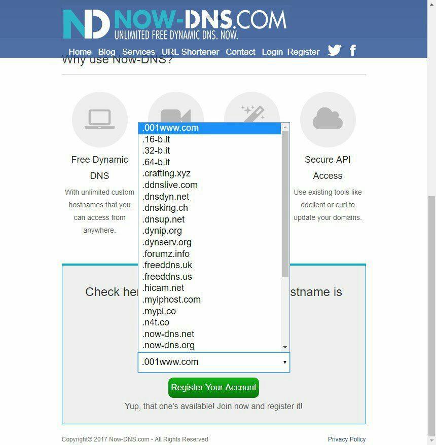 Now-DNS: Servicio DNS Dinámico Gratis