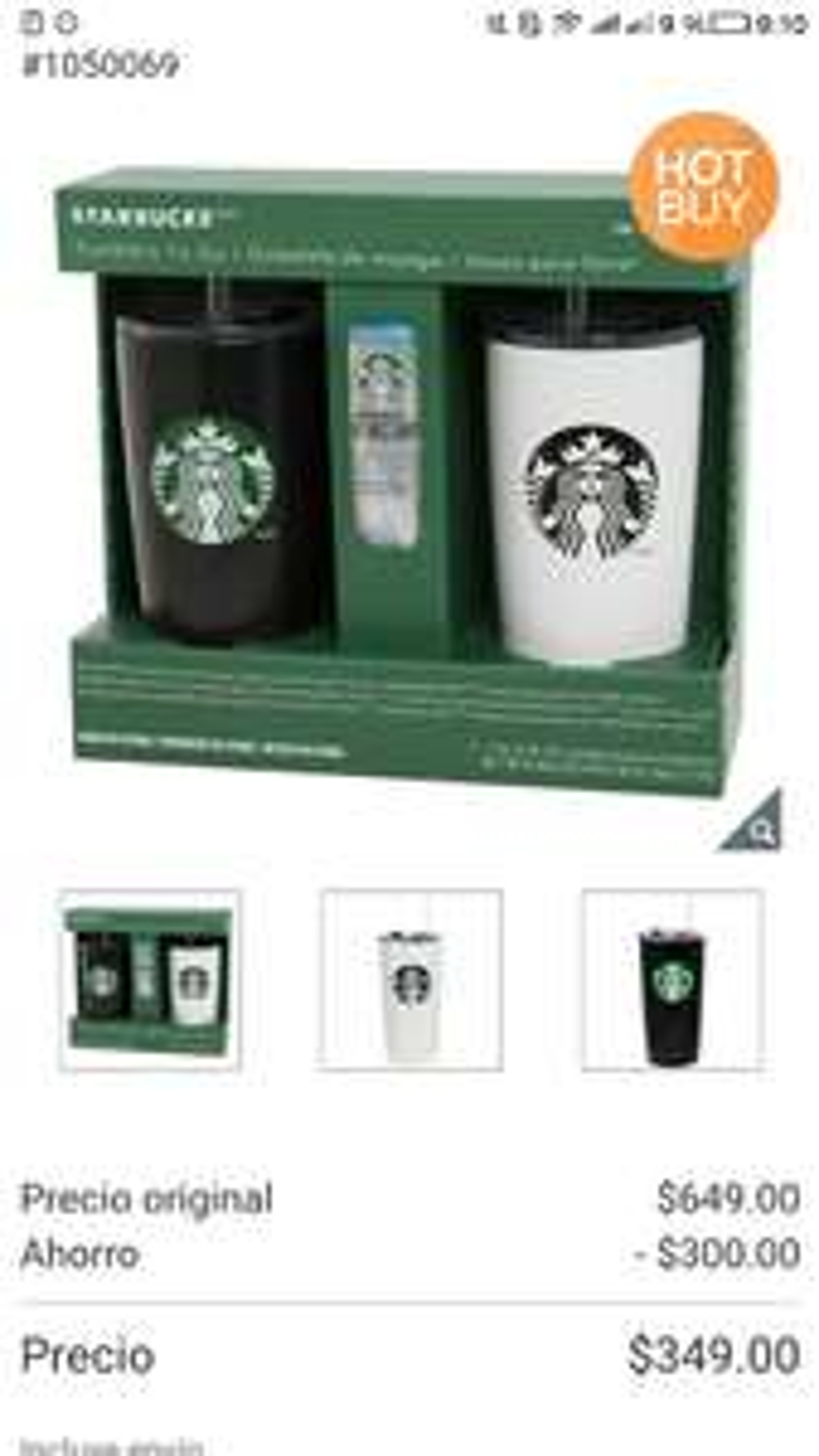 Costco online: pack de 2 termos Starbucks y muestra de café envío gratis