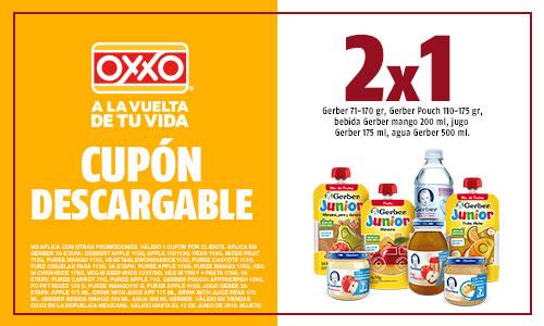 Oxxo : 2x1 en variedad de productos Gerber.