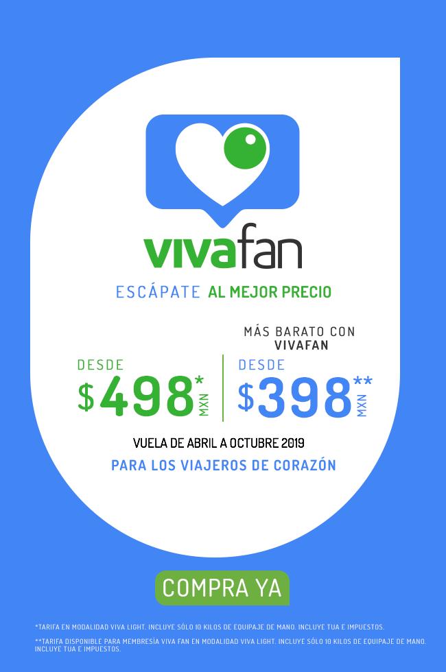 VivaAerobus: Vuelos sencillos de Abril a Junio desde $498 ($398 con VivaFan) en VivaLight comprando del Lunes 1 al Domingo 7 de Abril
