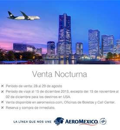Venta Nocturna Aeroméxico 28 de agosto