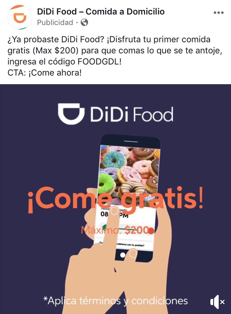 DiDi Food GDL: Máximo $200