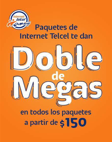 Telcel: Internet 3000 MB por $150 Telcel 28 días