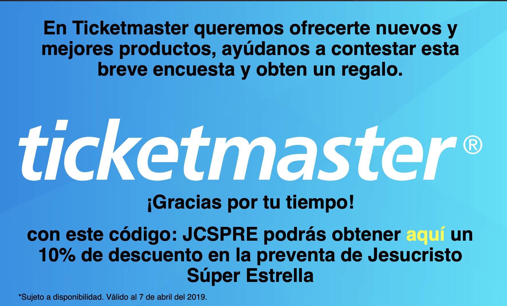 Ticketmaster: 10% de descuento en la preventa de Jesucristo Súper Estrella