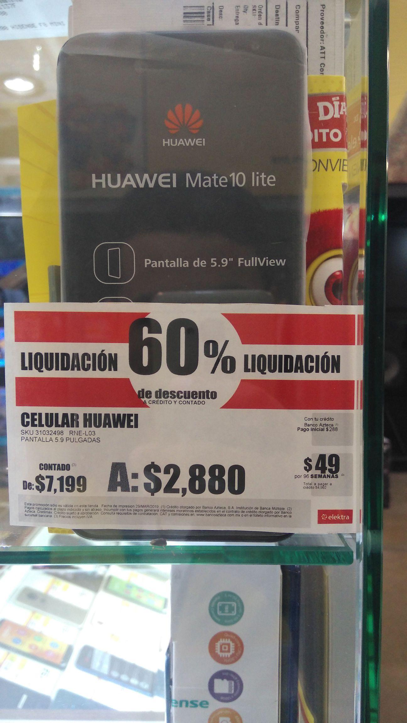 Elektra: ATT HUAWEI MATE 10 LITE de $7,199 A $2,880