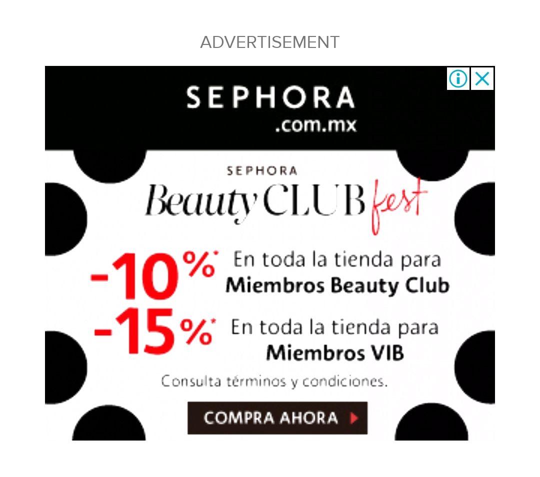 Sephora: -10% online/en tienda