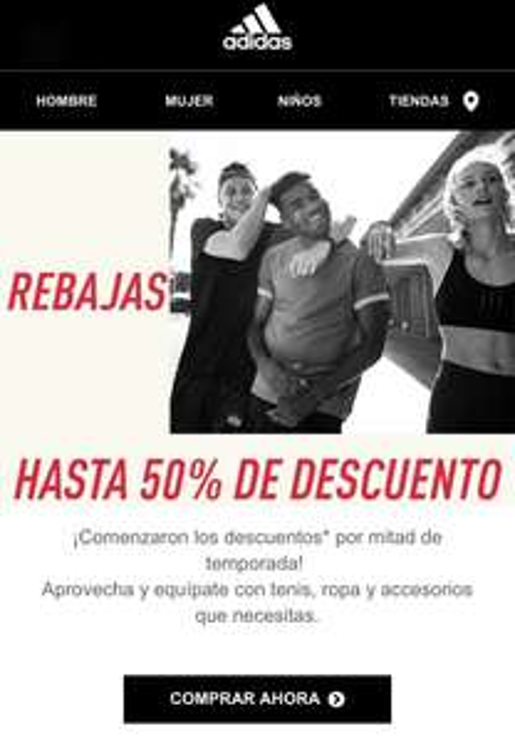 Rebajas hasta 50% en tienda en línea Adidas Outlet