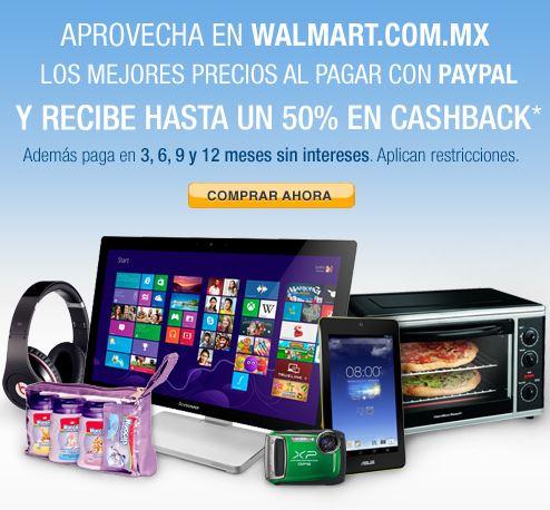 Walmart: 50% de bonificación pagando con PayPal