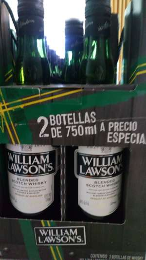 Bodega Aurrerá: Wihsky William Lawsons 750ml x 2