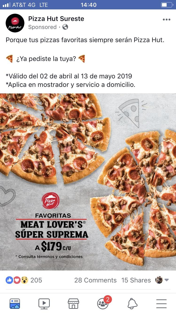 Pizza Hut: Suprema meat lover promo