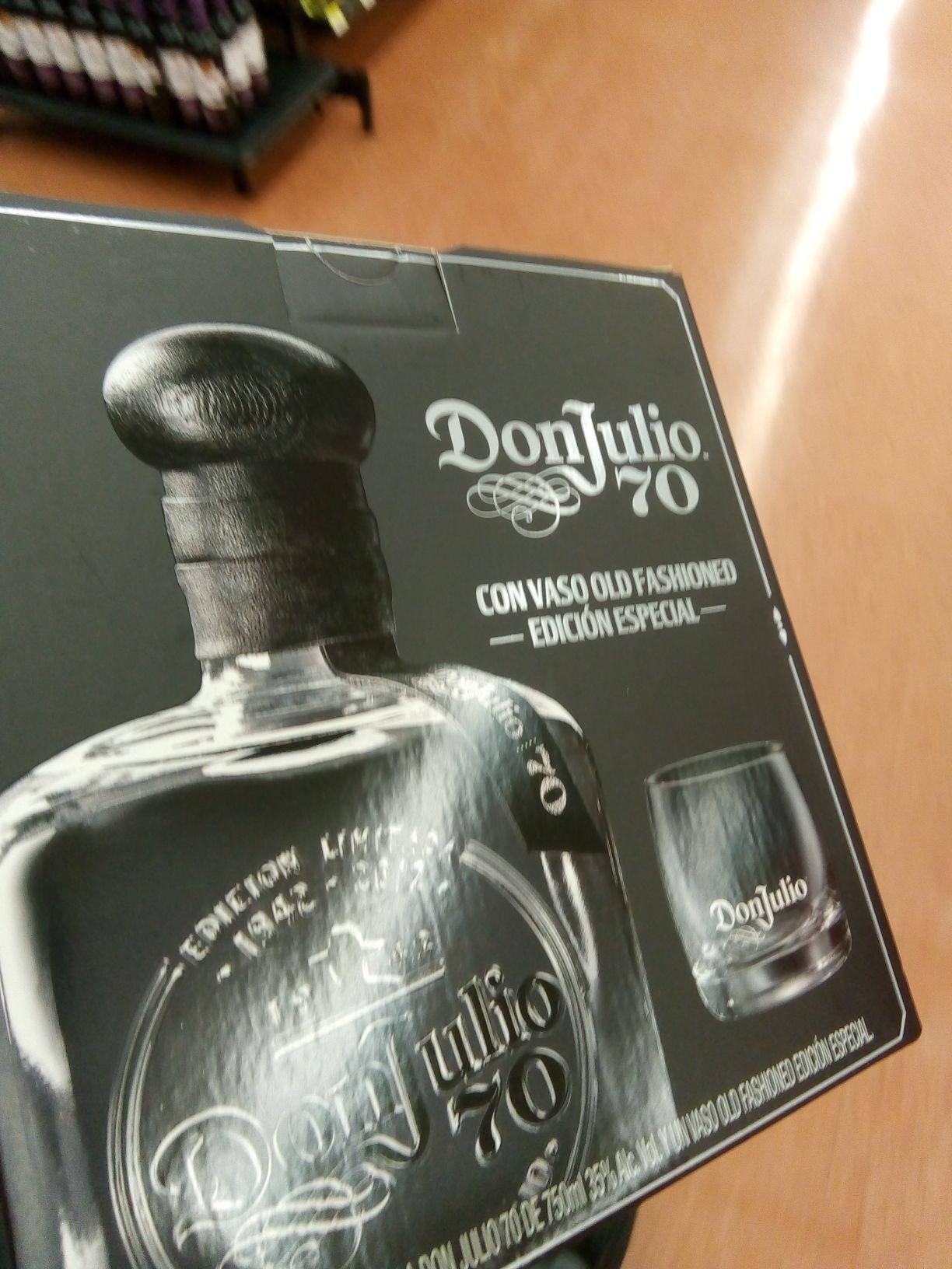 Walmart Montejo Mérida: Don julio 70 + vaso