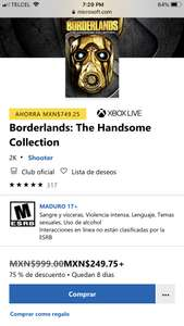 Microsoft Store: Borderlands The Handsome Collection