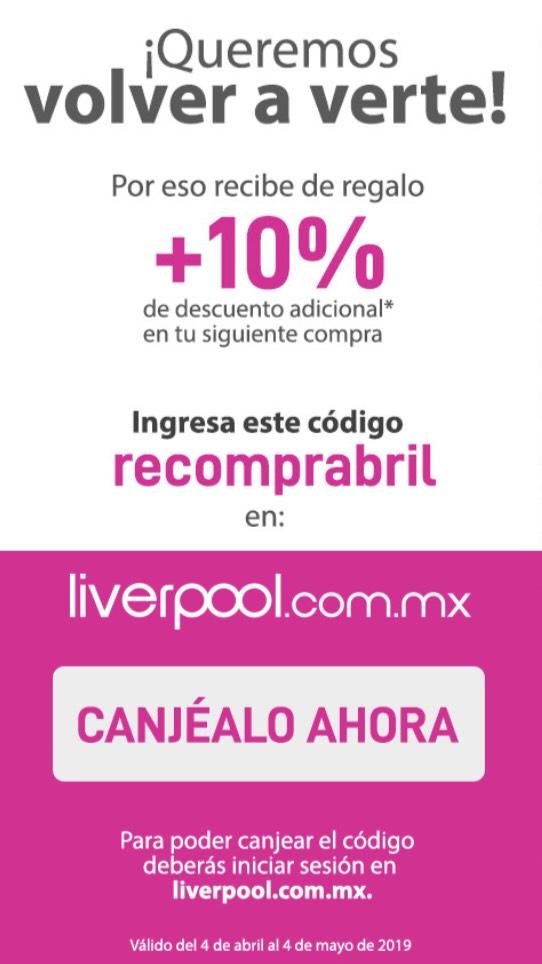 Liverpool: 10% en línea