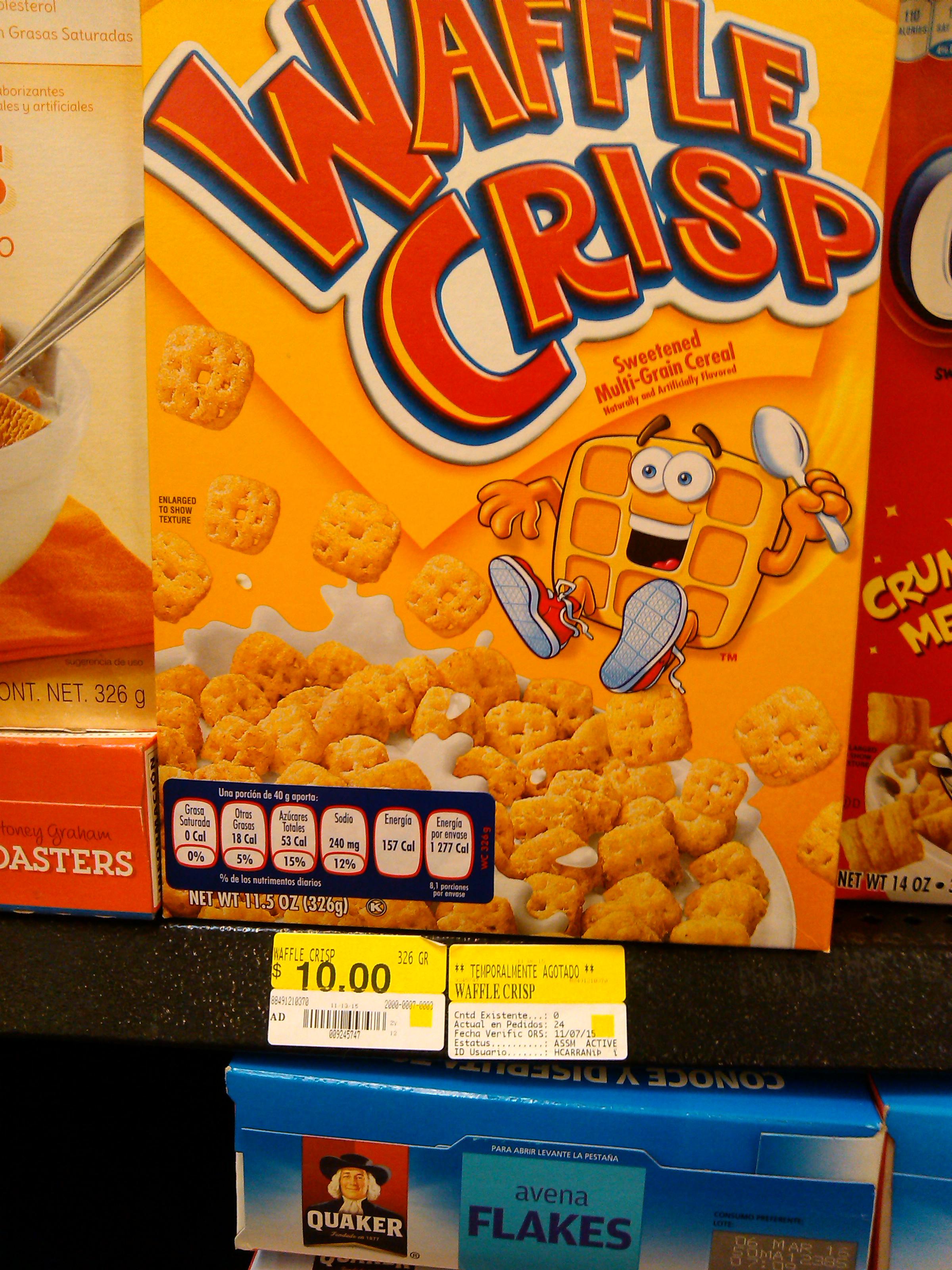 Walmart: Cereal Waffle Crisp a $10