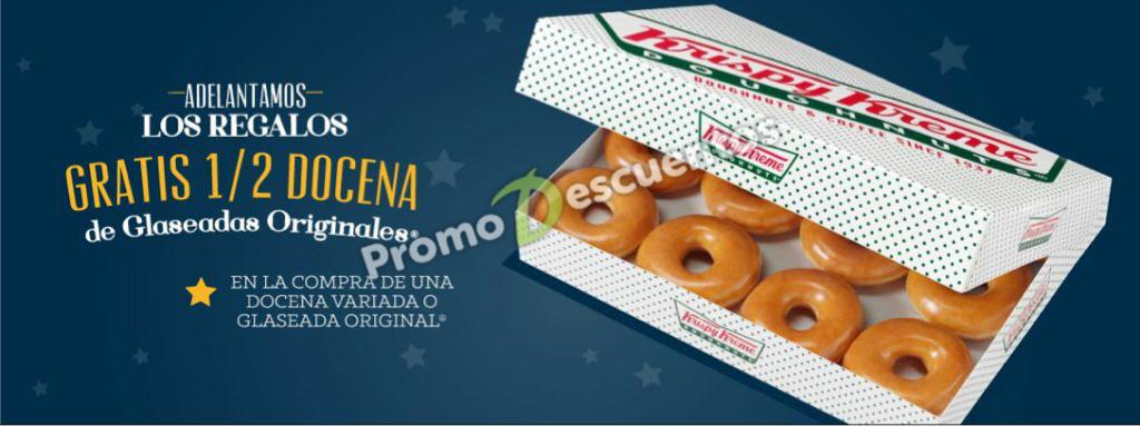Krispy Kreme: compra una docena de donas y GRATIS 6 donas glaseadas