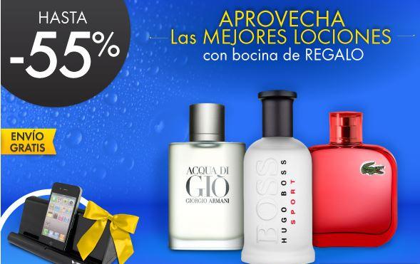 Linio: hasta 55% menos en perfumes + kit de belleza o bocinas de regalo y envío gratis