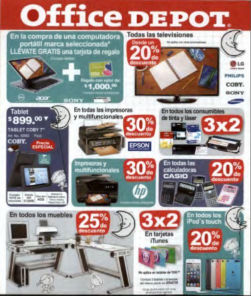 Venta nocturna Office Depot 29  de agosto (actualizado con ofertas y televisiones)