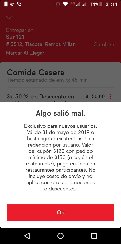 SinDelantal: $120 de descuento (nuevos usuarios)