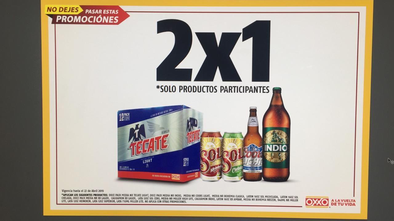 Oxxo: 2x1 en cerveza seleccionada