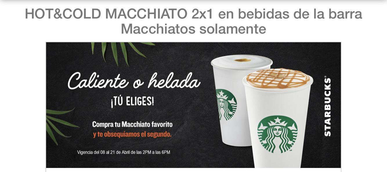 Starbucks: Macchiatos al 2x1