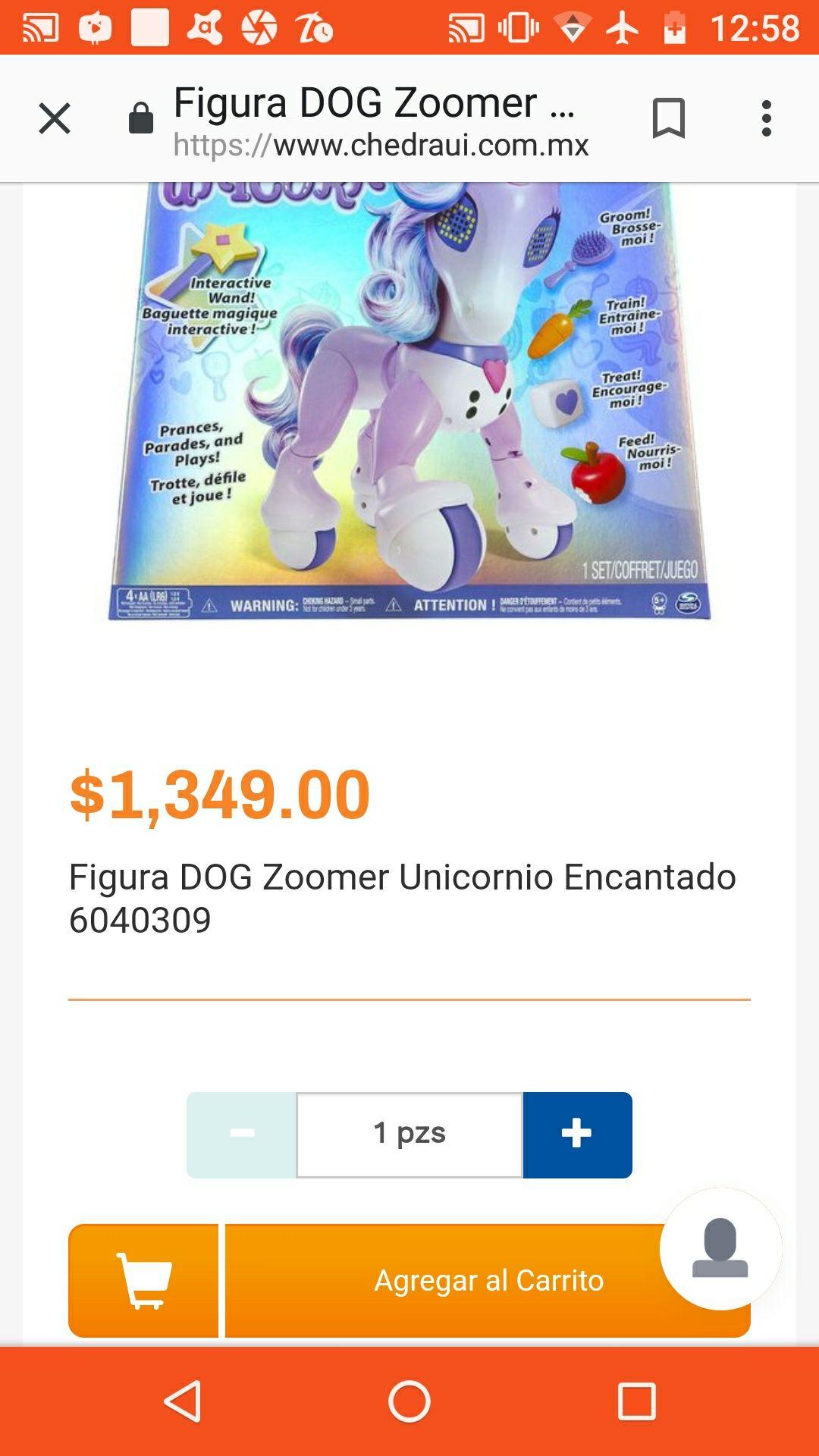 Chedraui en línea: Figura Zoomer Unicornio Encantado