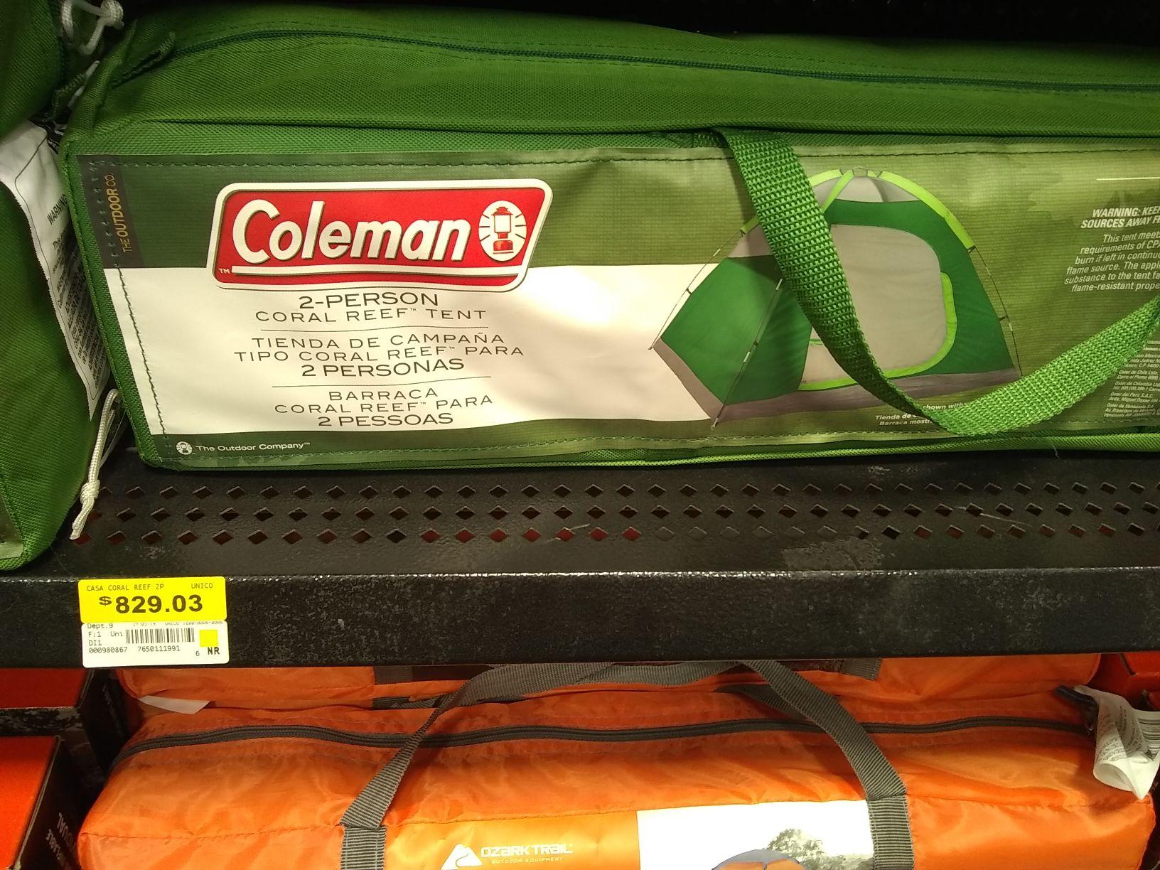 Walmart: Casa de campaña 2 personas Coleman