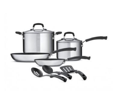 Walmart en línea: Batería de cocina 9 Piezas Tramontina Style Plateada