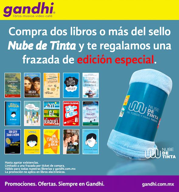 Librerías Gandhi: frazada gratis comprando libros seleccionados