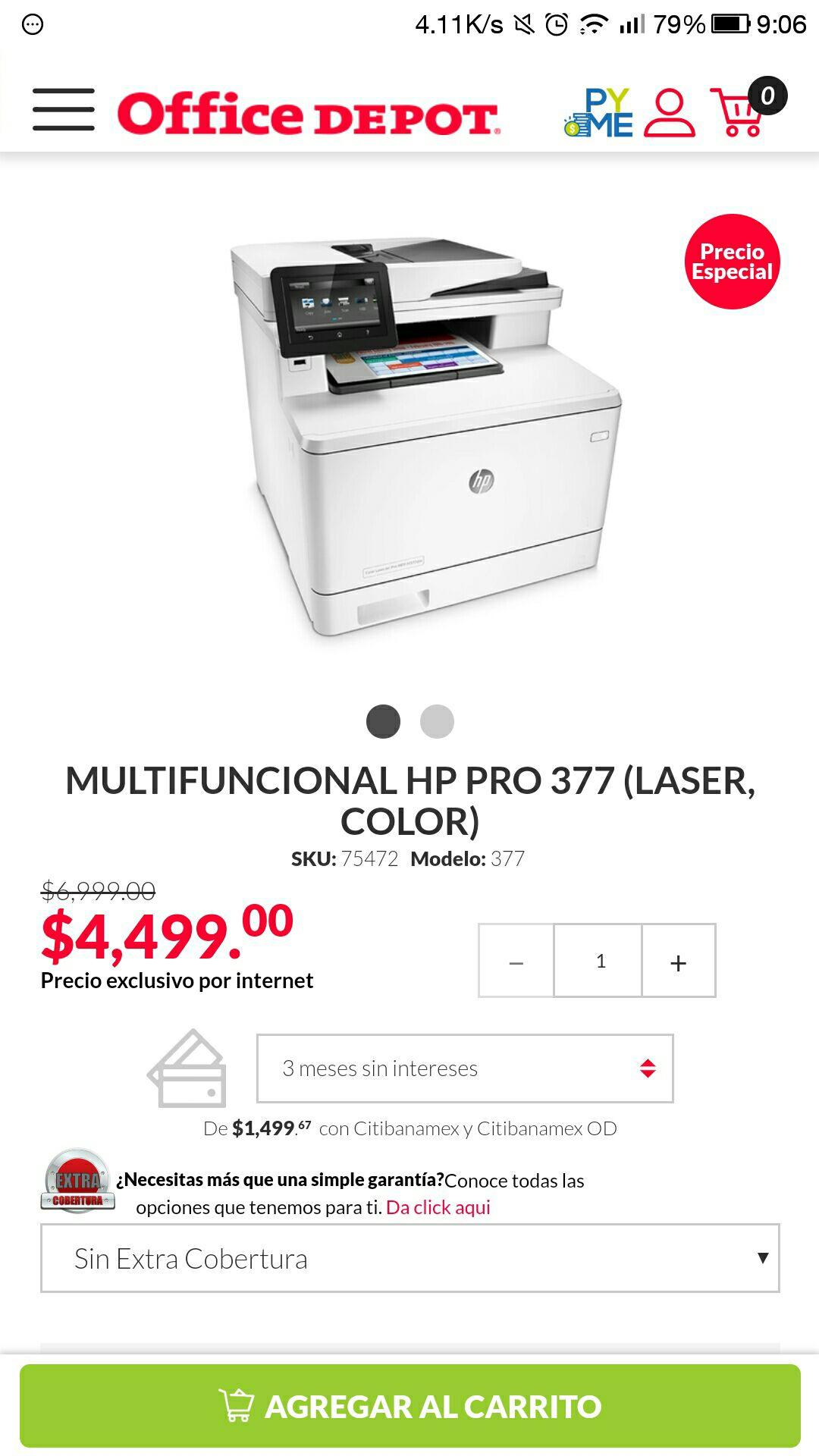 Office Depot Impresora laser color