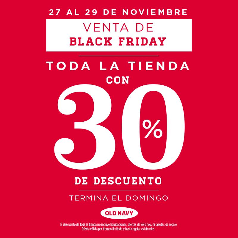 Oferta del Black Friday en Old Navy: 30% de descuento en toda la tienda
