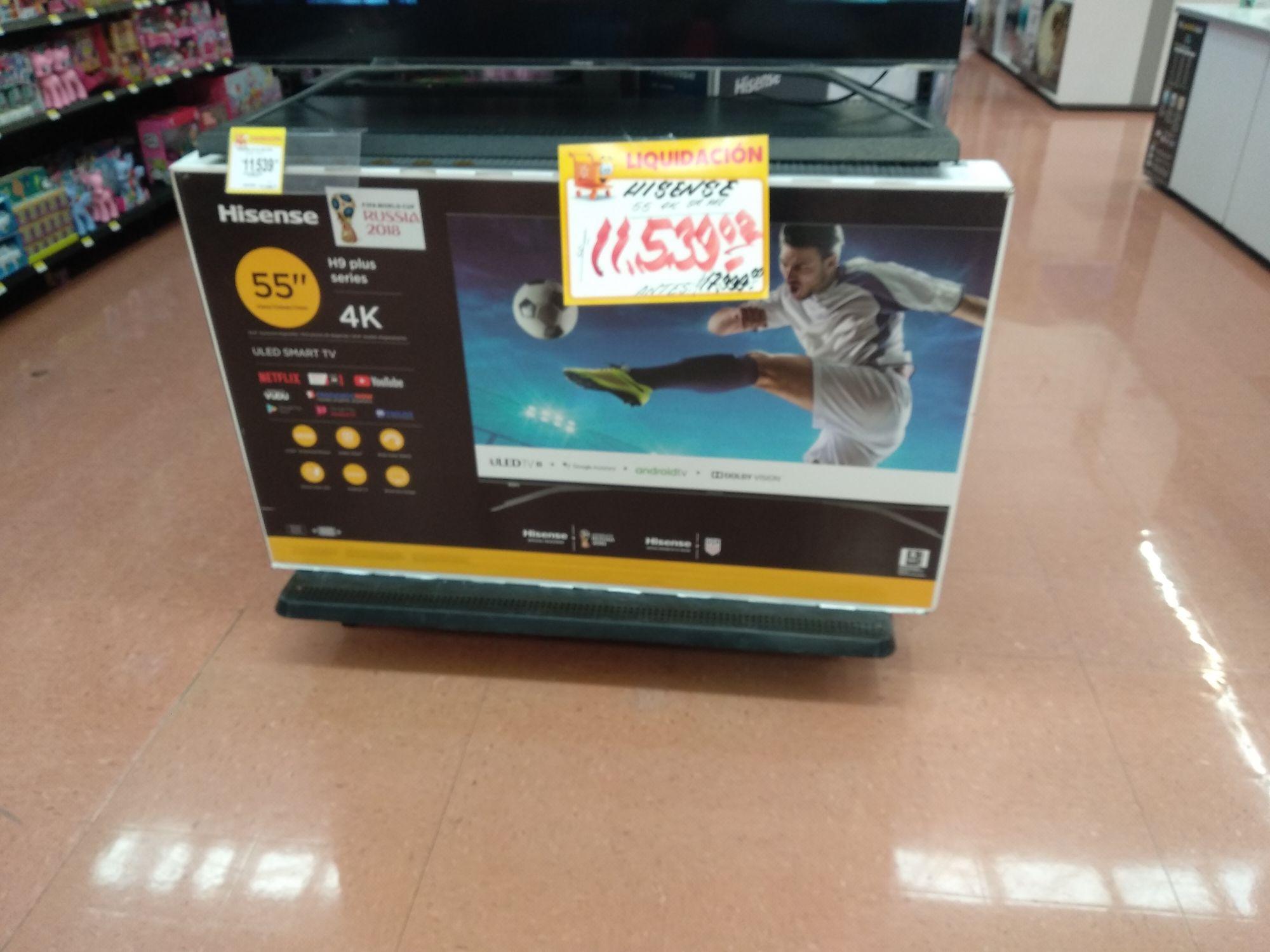 Walmart: Pantalla Hisense HE9 plus 55 pulgadas