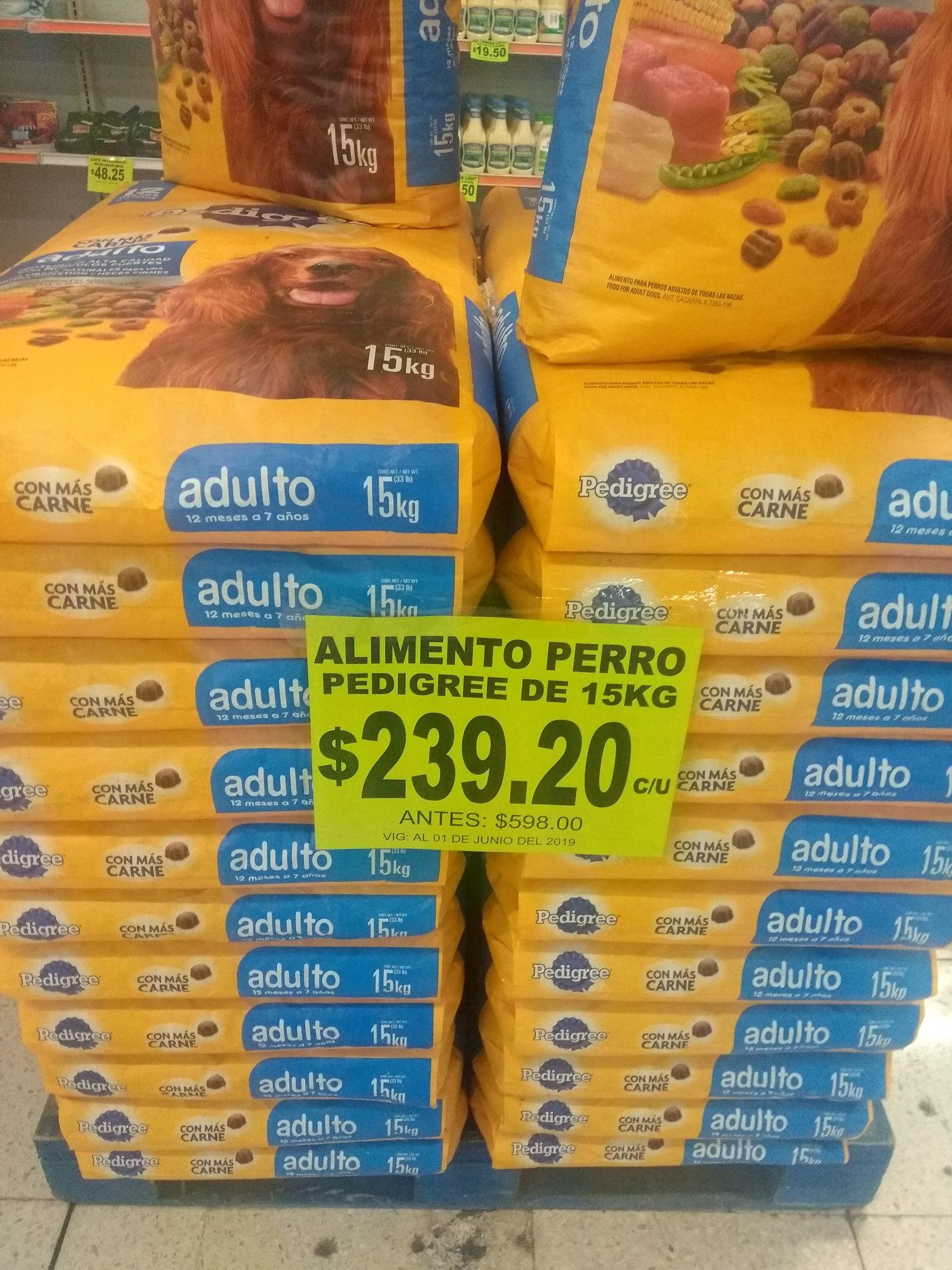 Mega Soriana: Pedigree 15kg en $239