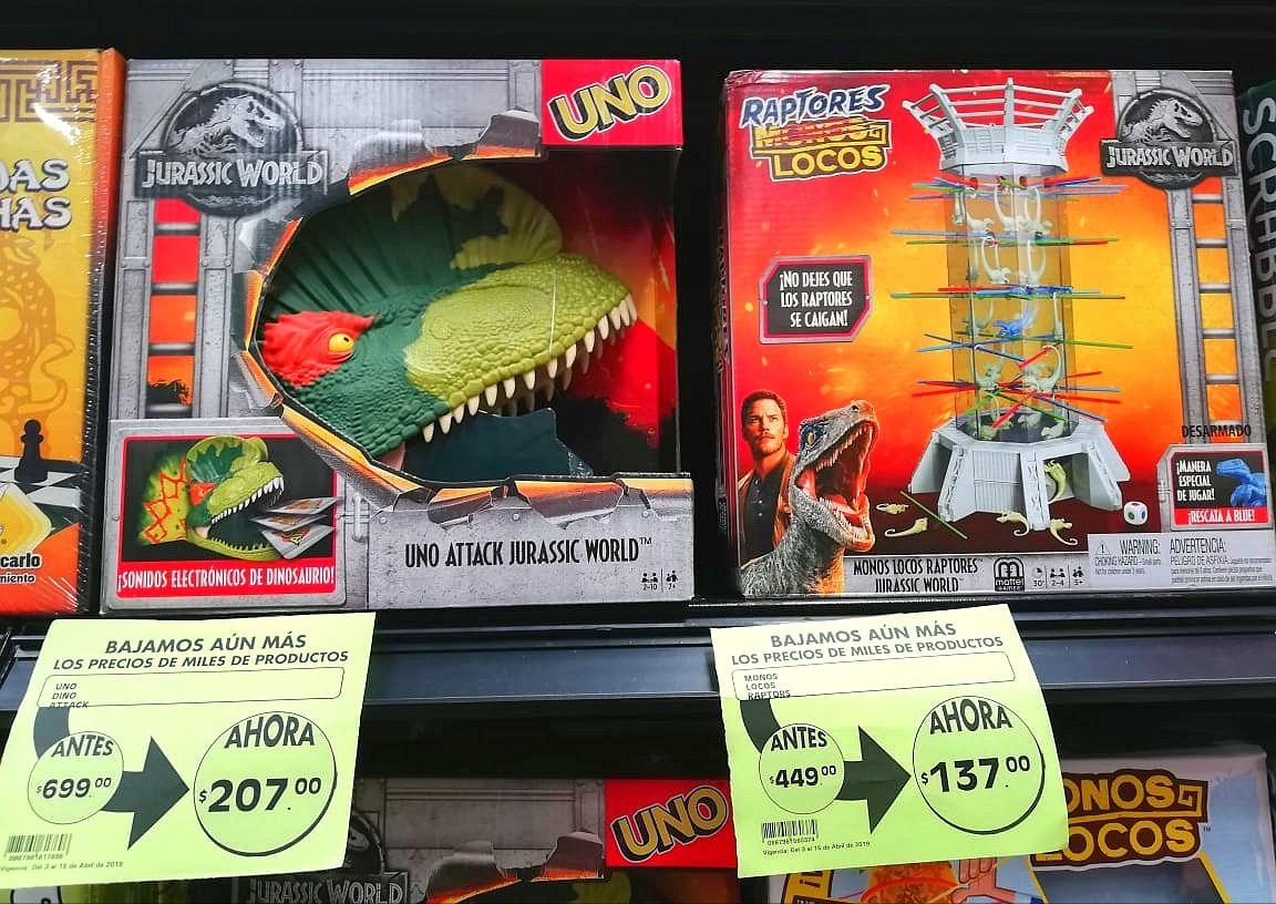 La Comer: Jurassic World UNO Attack y Raptores Locos