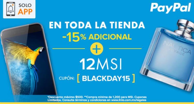 Black Friday en Linio: 10% de descuento o 15% de descuento desde la App en toda la tienda con Paypal