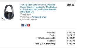Amazon Mx: Audífonos TurtleBeach P12 Stereo PS4