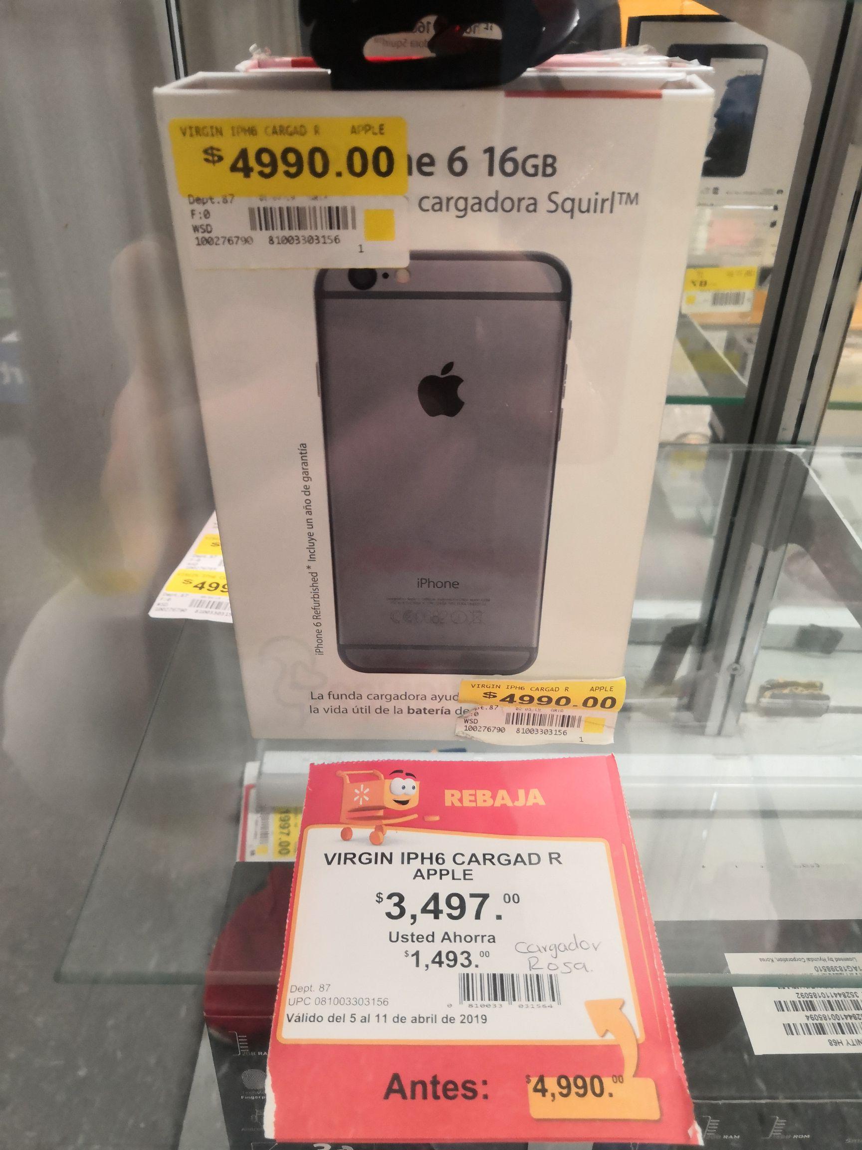 Walmart: IPhone 6 con funda cargadora incluida