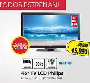 "Best Buy: pantalla LCD 46"" $5,990 y iPod Nano $1,995"