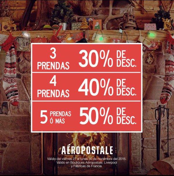Black Friday AÉROPOSTALE: 50% de descuento comprando 5 prendas
