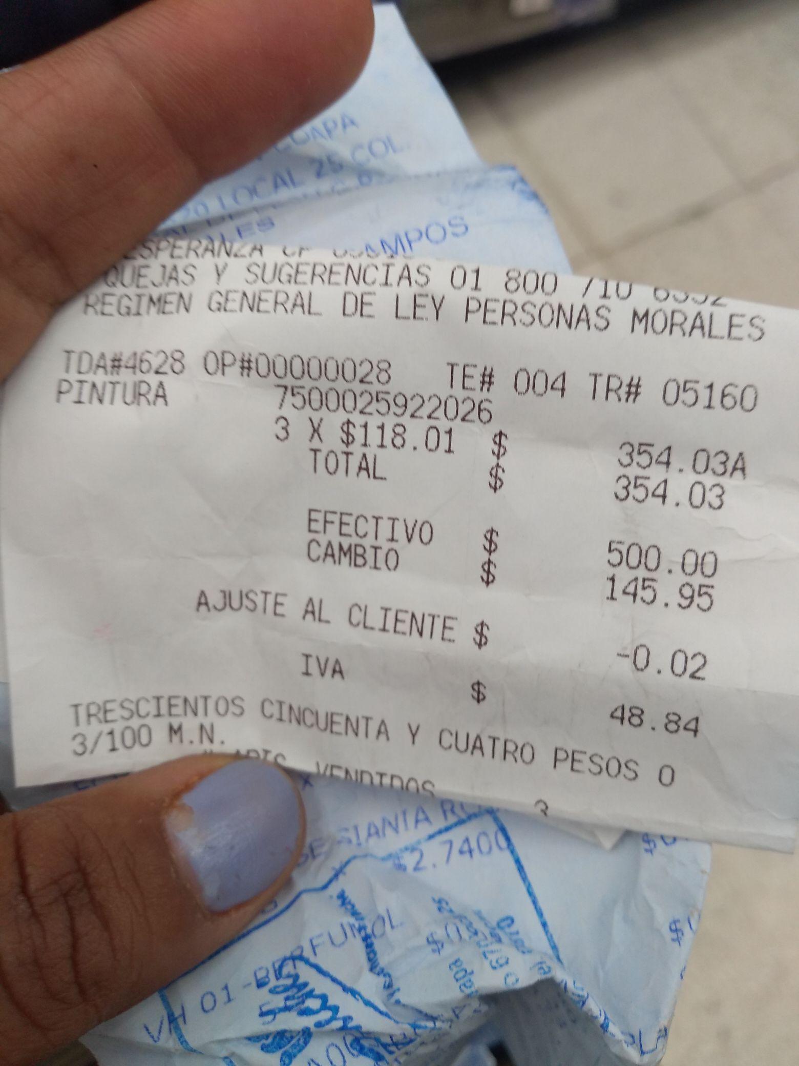 Walmart  Miramontes CDMX :pintura Meridian calidad 3 años : $118.01 cubeta 19 litros