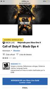 Microsoft Store: Call of duty: Black ops 4.