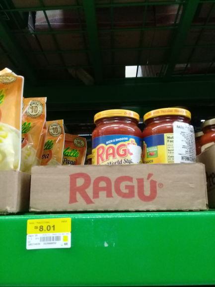 Bodega Aurrera: Ragu Tradicional $8