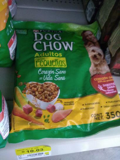 Bodega Aurrera: Dog chow razas pequeñas paquete de 350 gramos