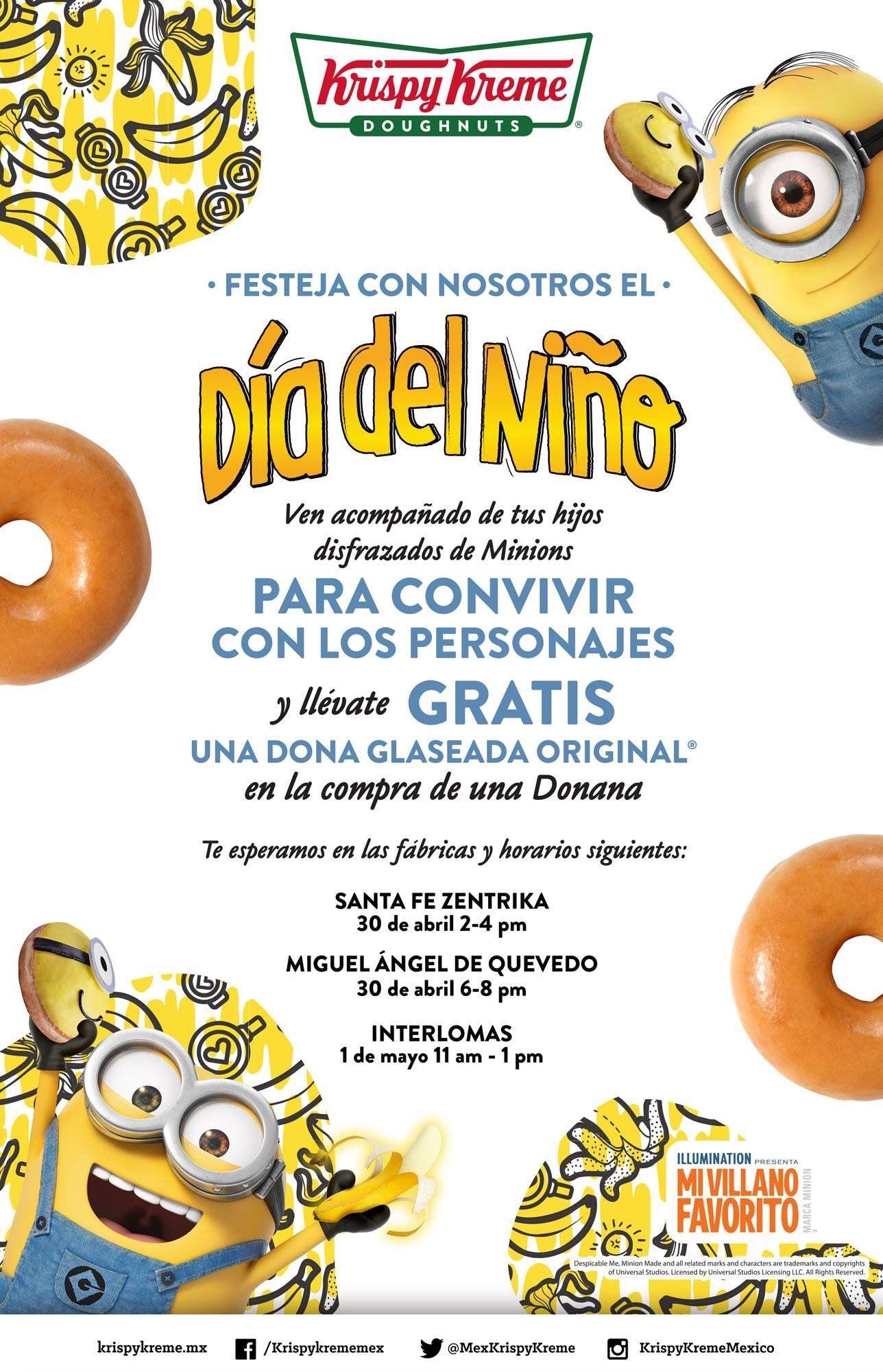 Krispy Kreme CDMX: Dona gratis para niños este 30 de Abril