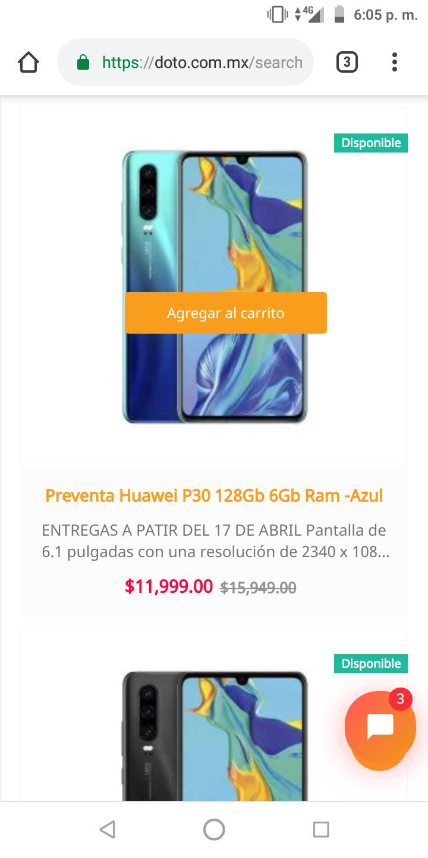 Doto: Preventa Huawei P30 6GB+128gb