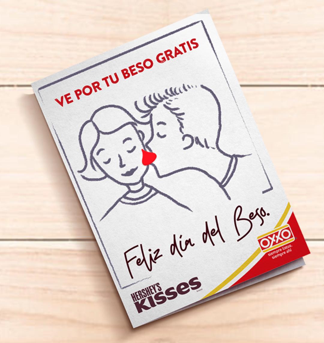 Oxxo: Día del beso - Cupón para Kisses Gratis
