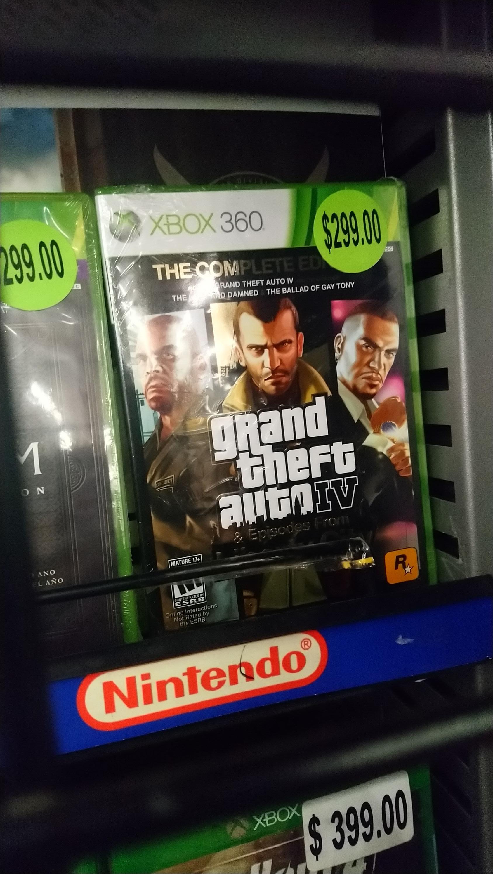 Walmart: GTA IV & episodes from liberty city por $299
