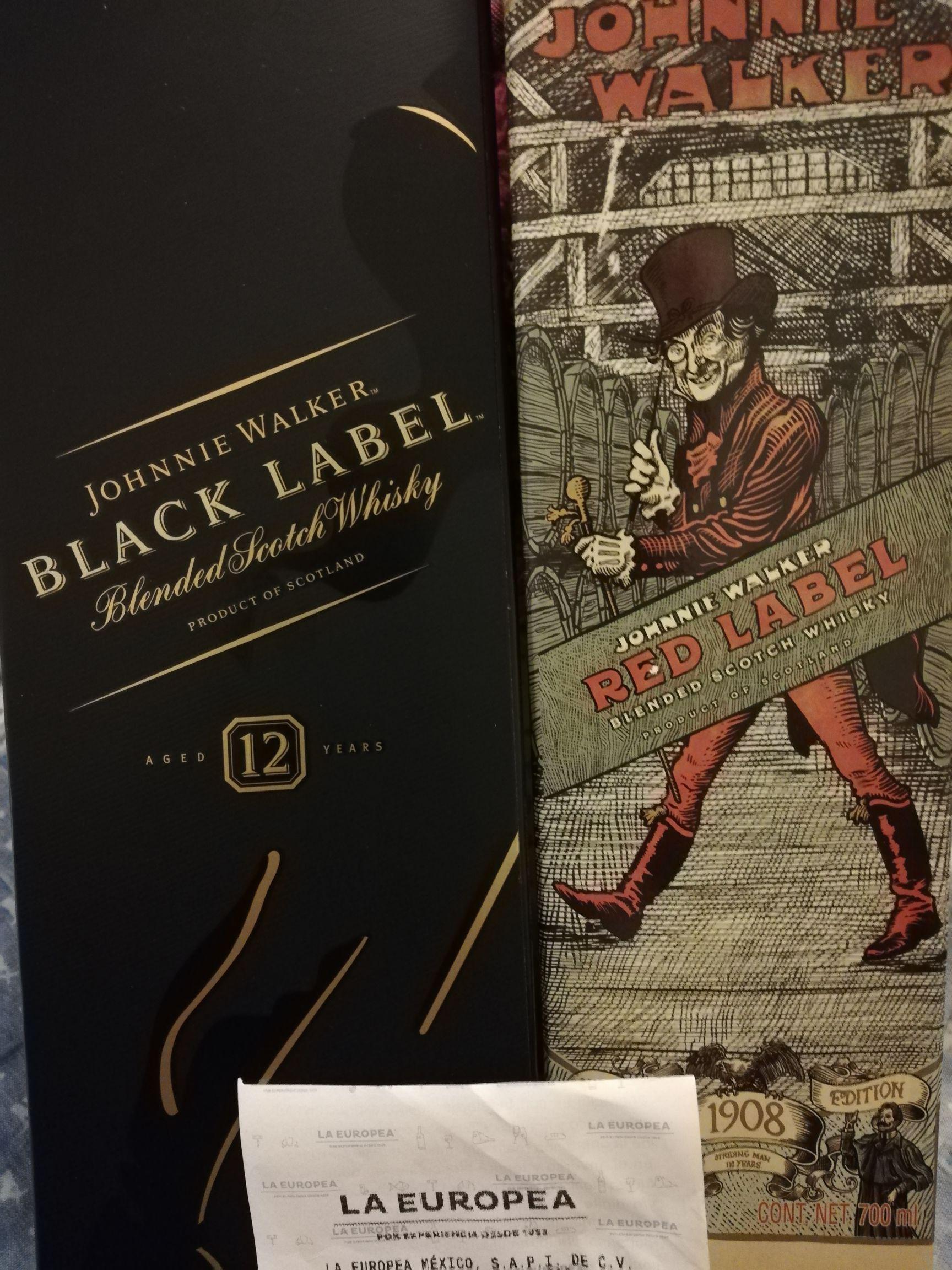 La Europea: Johnny Walker Black label y otros en oferta