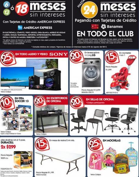 City Club: 25% de descuento Sony, 20% en escritorios y sillas de oficina y más