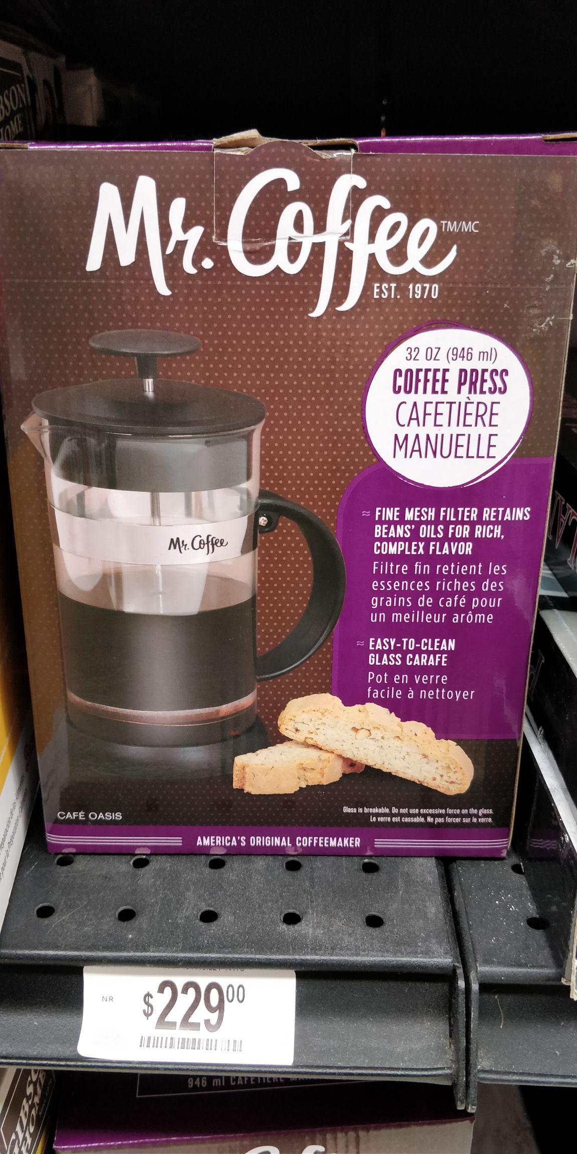 Chedraui Prensa Francesa Mr. coffee de 229 a 85.10